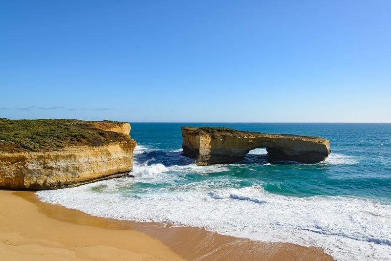 DSN 9708 Meer Strand Victoria Australien Great Ocean Road London Bridge