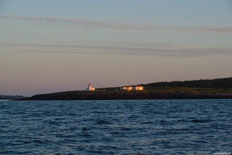 DSK 7935 Leuchtturm Kanada Whale Watching Lighthouse Eastcoast Nova Scotia Brier Island Northern Lighthouse Ostkueste