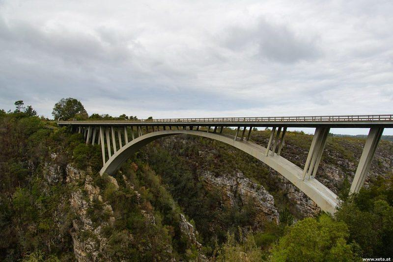 DSN 4108 Afrika Garden Route Garden Route National Park Paul Sauer Bridge Storms River Storms River bridge Suedafrika