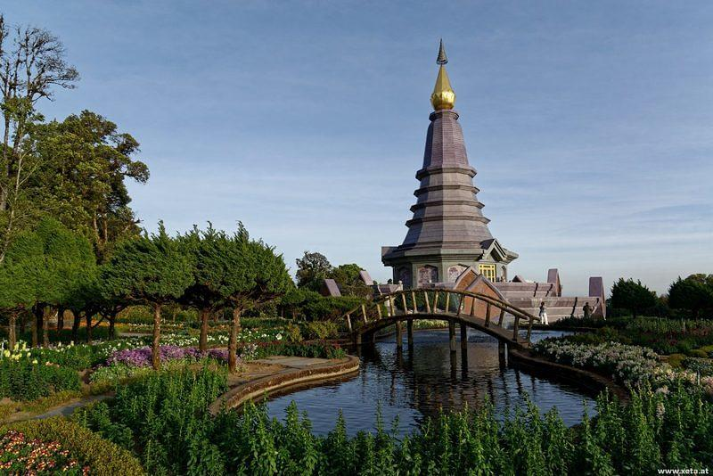 DSO 5665 Pagode Thailand Doi Inthanon National Park Nationalpark Doi Inthanon The Great Holy Relics Pagoda