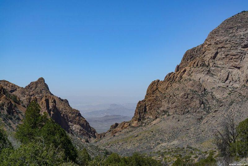 DSM 7416 USA Texas Big Bend Nationalpark Chiso Mountains Chisos Basin Fenster The Basin Window