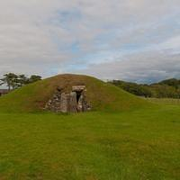 DSH 9134 Wales Bryn Celli Ddu Burial Chamber Anglesey Huegelgrab