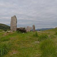 DSH 9352 Steinkreis Irland Uragh Uragh Stone Circle Gleninchaquin Park Cloonee and Inchiquin Loughs Ring of Beara