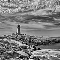 DSK 7337 Leuchtturm Kanada Lighthouse Eastcoast Nova Scotia Lighthouse Route Peggys Cove Ostkueste