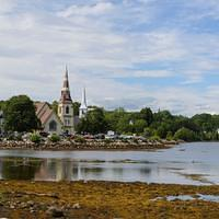 DSK 7362 Kanada Eastcoast Nova Scotia Lighthouse Route Mahone Bay Three Churches Ostkueste