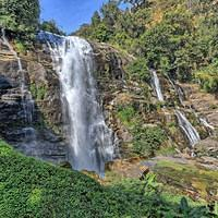 DSO 5750 1 2 HDR Wasserfall Thailand Doi Inthanon National Park Nationalpark Doi Inthanon Wachirathan Waterfall
