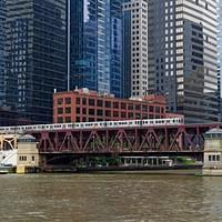 DSO 4256 1 USA U-Bahn Subway Illinois Chicago Chicago Elevated Chicago River