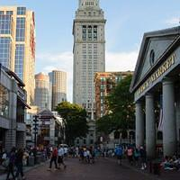 DSK 9872 USA Eastcoast Massachusetts Boston Custom House Tower Quincy Market Ostkueste