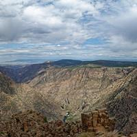 DSO 3029-3035 Pano USA Panorama Schlucht National Park Colorado Black Canyon of the Gunnison National Park