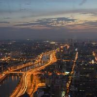 DSL 1871 Vietnam District 1 Ho-Chi-Minh Quan 1 Saigon Sunset Bitexco Financial Tower Skydeck