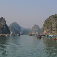 DSL 2963 Vietnam Cat Ba Floating Fishing Village Halong Bucht Schwimmendes Dorf